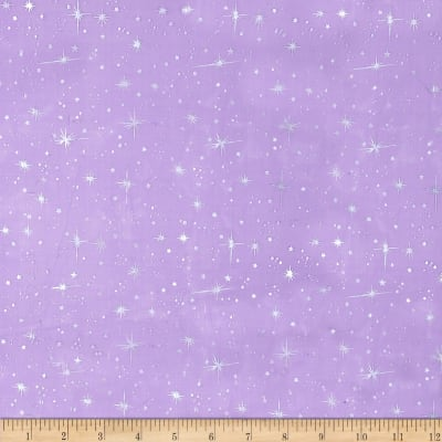 Star Foil Organza Purple