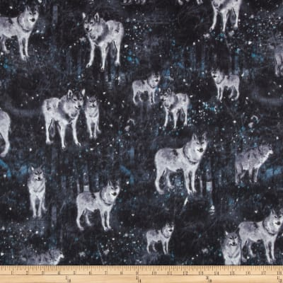 Big Country Flannel Wolves At Night