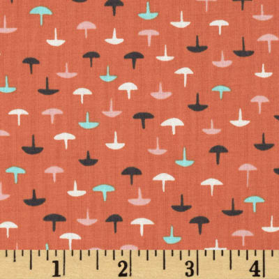 Cotton + Steel Lawn Homebody Tacks Coral