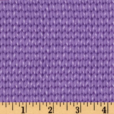 Downton Abbey II Knit Pattern Purple