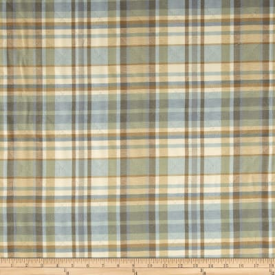 Robert Allen Promo Upholstery Quilted Plaid Surf