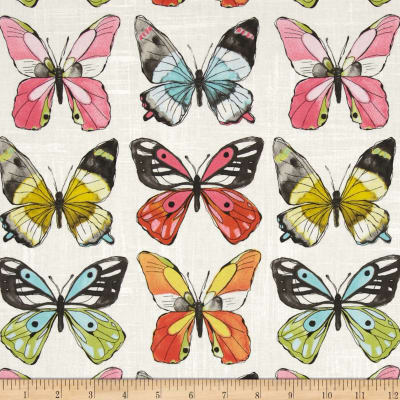 Michael Miller Flutter Fly White