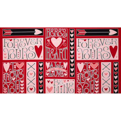 "I Love You 24"" Panel Red"
