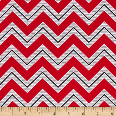 I Love You Chevron Red