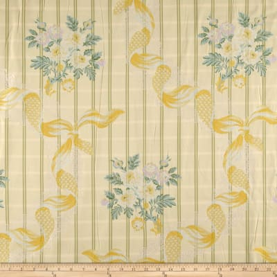 Robert Allen Promo Floras Secret Jacquard Blue Mint