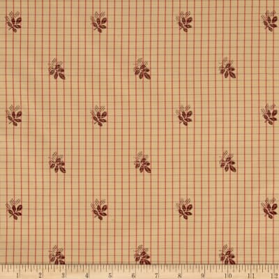 Robert Allen Promo Embroidered Vermont Plaid Red Umber