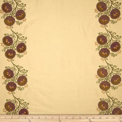 Robert Allen Promo Tennille Silk Cotton Embroidered Earth