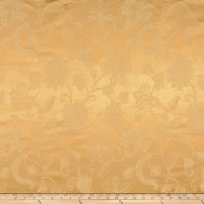 Robert Allen Promo Embroidered Satin Sundance Flora Burnished Gold