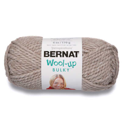 Bernat Wool Up Bulky Yarn 50012 Taupe