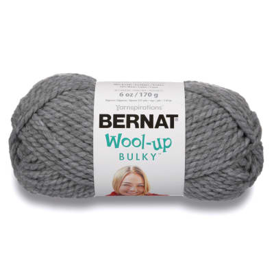 Bernat Wool Up Bulky Yarn 50046 Light Grey