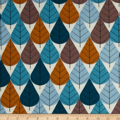 Birch Organic Charley Harper Interlock Knit Octoberama Blue
