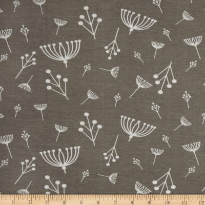 Birch Organic Interlock Knit Charley Harper Twigs Shroom