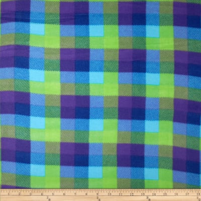 Printed Fleece Plaid Blue/Purple