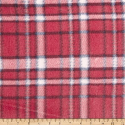 Printed Fleece Buffalo Plaid Red/Blue