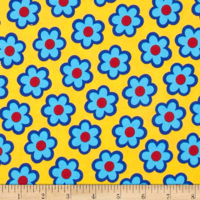 Flannel Large Daisy Yellow