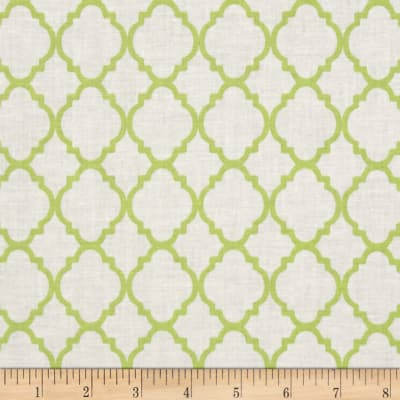 Quatrefoil White/Lime