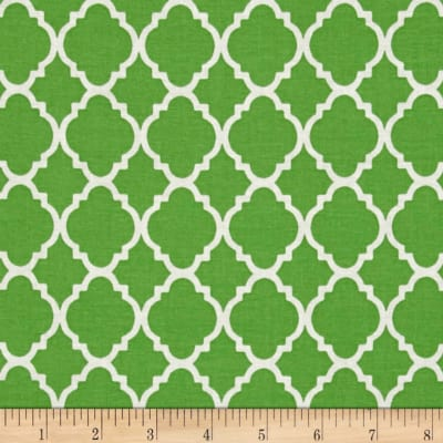 Quatrefoil Lime/White