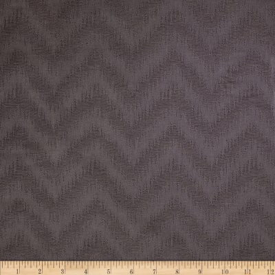 Waverly Peaks Solid Chevron Damask Charcoal