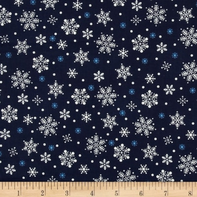 Winter Wishes Snowflakes Navy