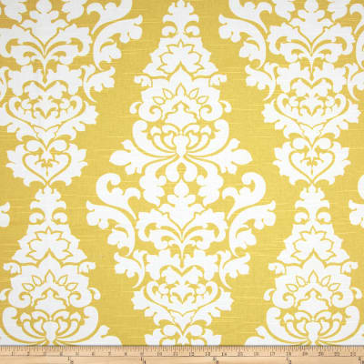 Premier Prints Berlin Slub Saffron Yellow