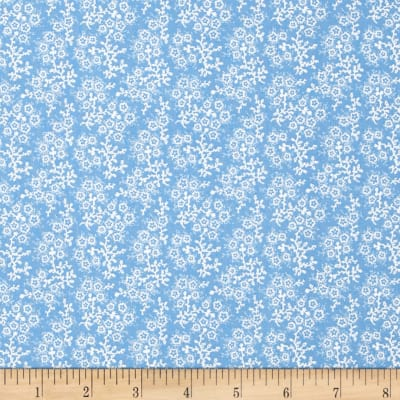 Mini Floral Blue/White