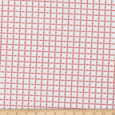 Mini Checks White/Red
