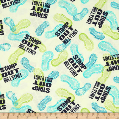 Take A Stand Stamp Out Bullying Toss Mint Green