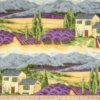Lavender Bliss Fields Large Scenic Multi