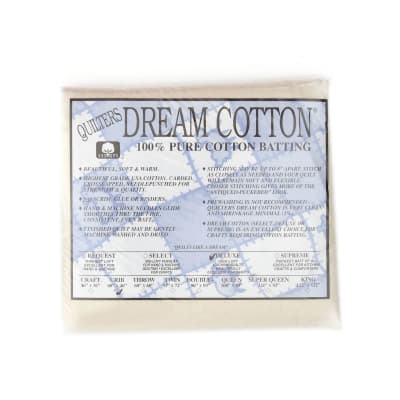 "Quilter's Dream Natural Cotton Deluxe Batting (46"" x 60"") Crib"