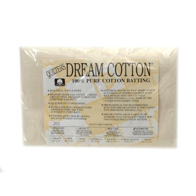"""Quilter's Dream Natural Cotton Supreme Batting (60"""" x 60"""") Throw"""
