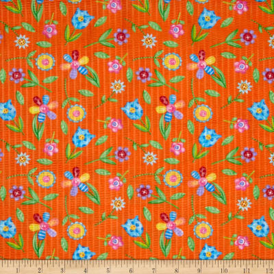 Tutti Frutti Plisse Flowers Orange