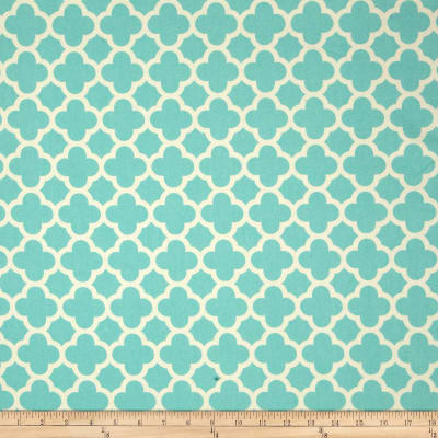 Riley Blake Home Decor Quatrefoil Aqua