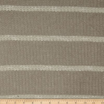 Lace Sweater Knit Stripe Taupe/White