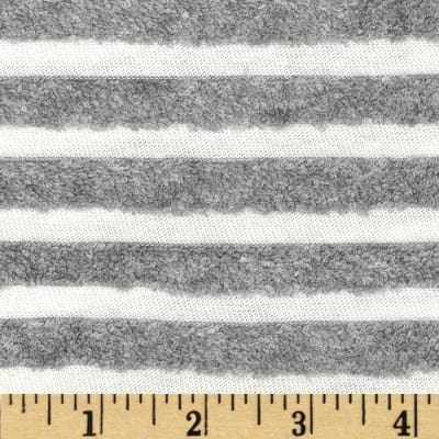 Terry Knit Stripe Grey/White