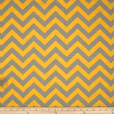 Premier Prints Zig Zag Ash/Corn Yellow