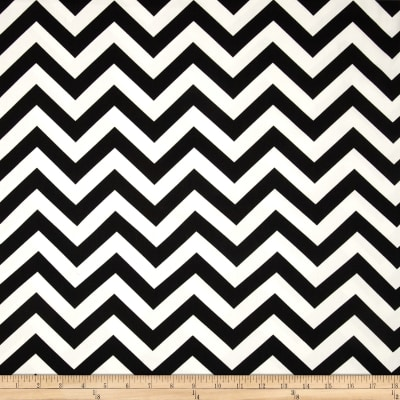 Premier Prints Zig Zag Twill Black