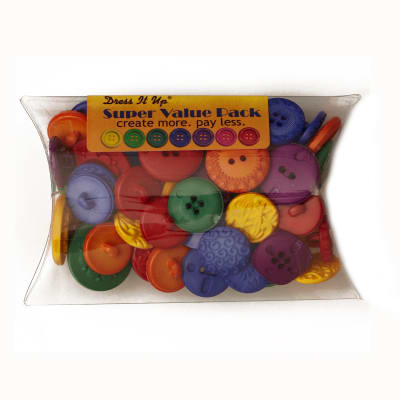 Dress It Up Super Value Pack Buttons Finger Paint Multi