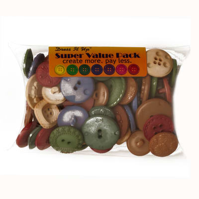 Dress It Up Super Value Pack Buttons Nomadic Desert Multi