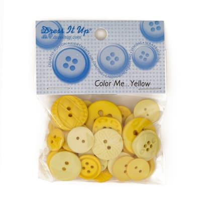Dress It Up Color Me Collection Buttons Yellow