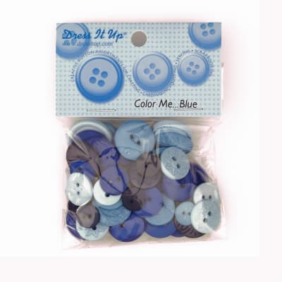 Dress It Up Color Me Collection Buttons Blue