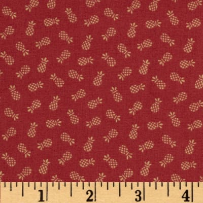 Americana Collection Pineapple Red/Rust