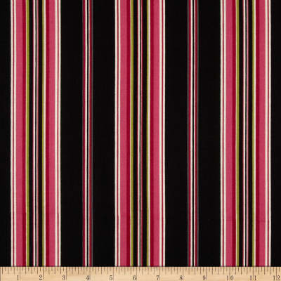 Mayfair Wide Stripe Black/Pink