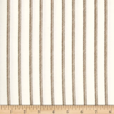 Normandy Court Ticking Stripe White/Taupe