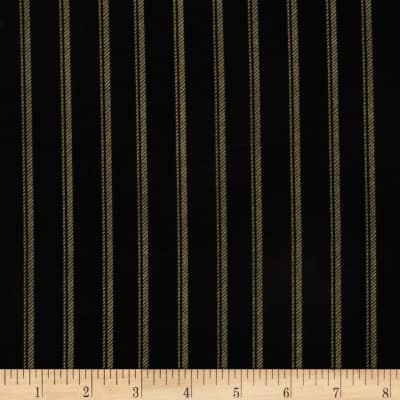 Normandy Court Ticking Stripe Black/Taupe