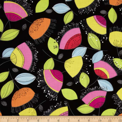 Floralicious Small Allover Black/Multi