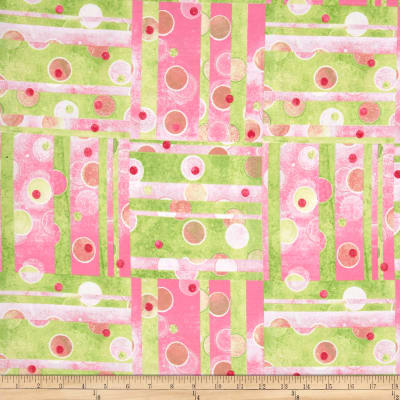 The Garden Club Patchwork Pink/Green