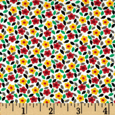 House and Home Tossed Mini Floral Red/Black