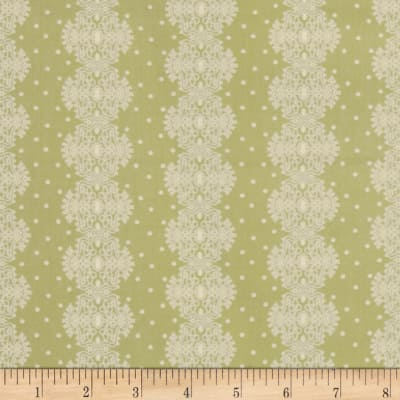 Make Do and Mend Lace Stripe Green