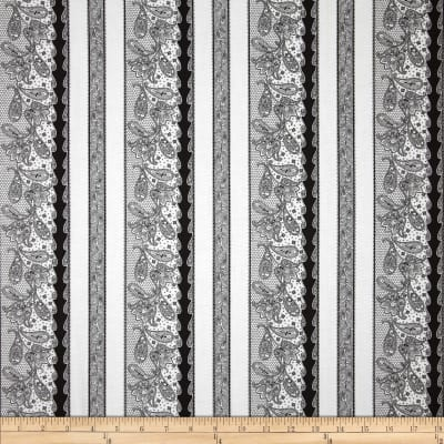 Ebony & Ivory Border Stripe White