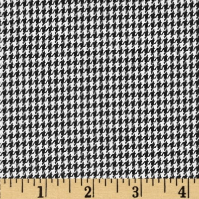 Kaufman Yarn Dyed Houndstooth Shirting Black Poplin
